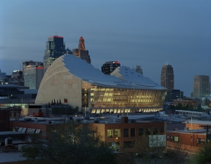 KCPA with KCMO skyline at dusk_updated